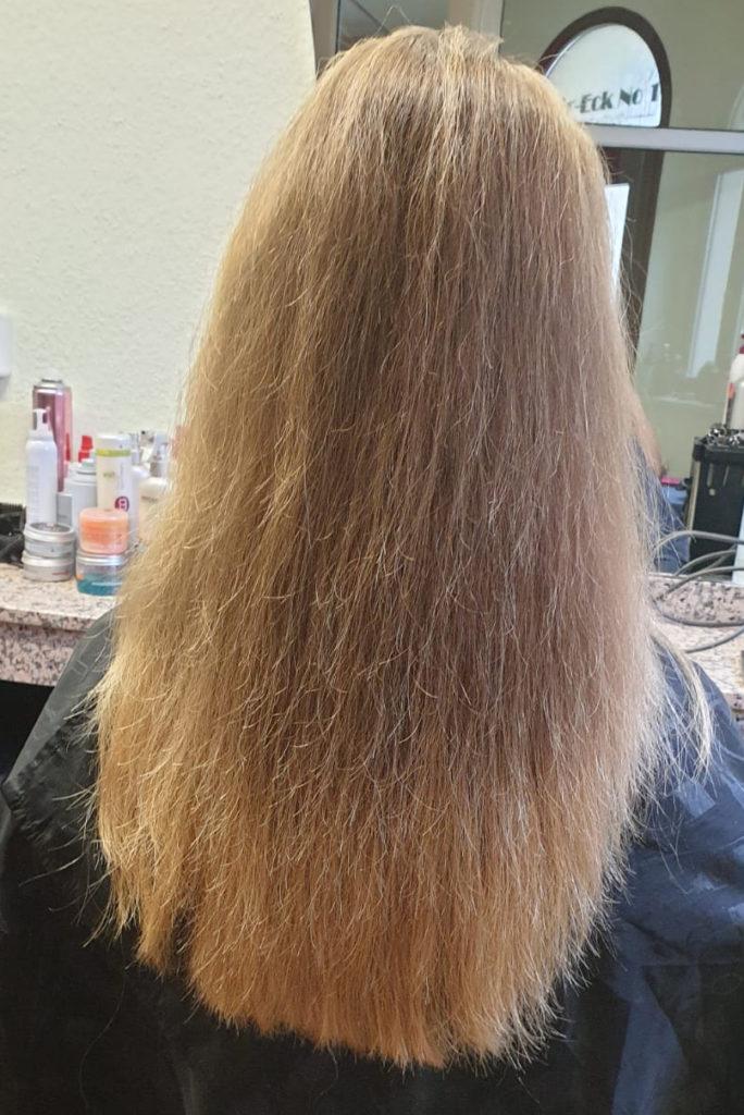 Vor dem Haarefärben