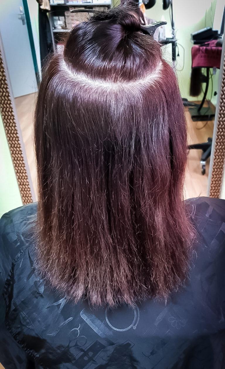 Vor der Haarverlängerung / Haarverdichtung
